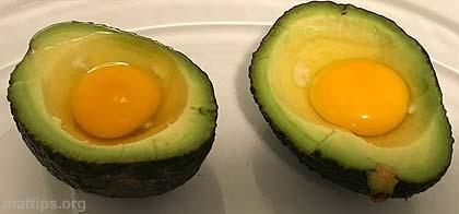 Avokado og egg