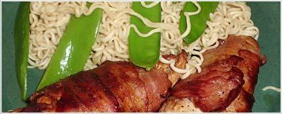 Baconsurret kyllingfilet