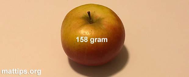 Hva veier et eple?