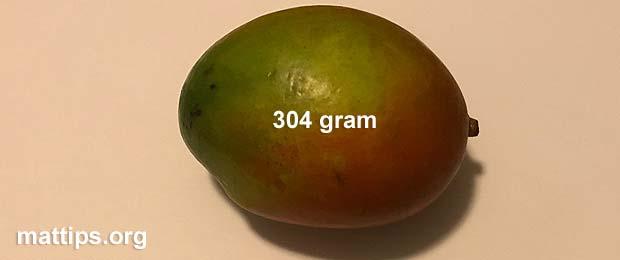 Hva veier en mango?