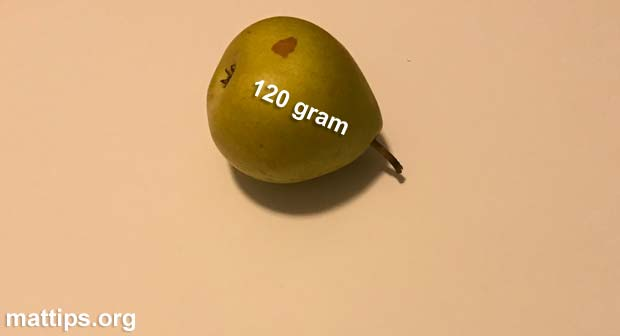 Hva veier en pære?