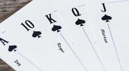 Spillekort som kreative bordkort