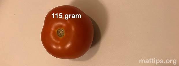 Hva veier en tomat?