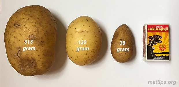 Hvor mye veier en potet?